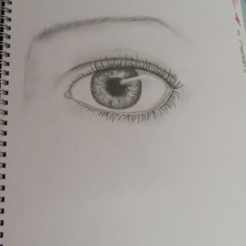 Drawing of a eye by Sophiethesofa