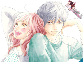 Render: Ao haru ride - Futaba and Kou by Panelletdelimon