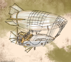 Pirate Airship: Zephyrus by Apeliotus