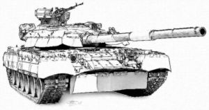 Main battle tank T-80ud by Garr1971