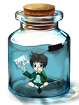 EB - Tony in a Bottle by grimandsmiles