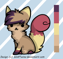 Colourful Kitty Adopt - CLOSED by Twine-Adopts