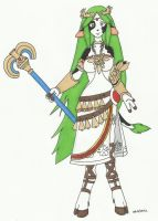 Commission: Palutena cowgirl by cqmorrell