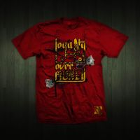 L.O.M Red tee by omarnejai