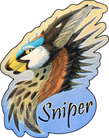 Personal - Sniper's Feral Badge by TwilightSaint