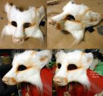 LARP Mask: White Fox by Magpieb0nes