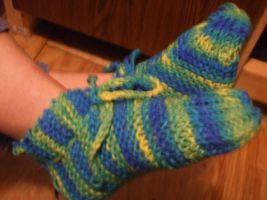 Knitted Slippers 2 by Creativity-Squared