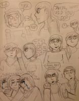 Doodles: Family and Logan surprises Astrid by IrrelevantFrenchFry
