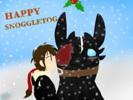 HTTYD-Snoggletog Kisses and Well Wishes by BlackDragon-Studios