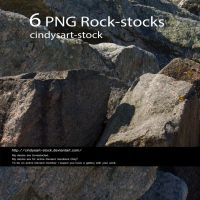 6 PNG rocks by cindysart-stock by CindysArt-Stock