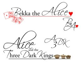 Logo WIP for Bekka the Alice by jamiesama