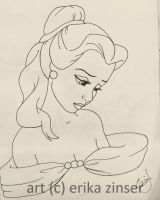 Sad Belle Sketch by glimpen