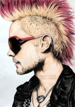 Jared Leto Colored Pencils by Xanachan90