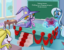 Trixie Teaches magic Kindergarten-Commission by bunnimation