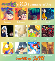2013 Art Summary by Gamchawizzy