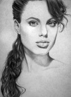 Young Anjelina Jolie portrait by CocaineJia