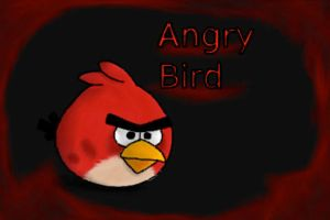 Red Angry Bird by JenMysterion
