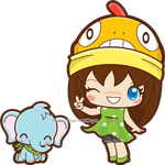 The Poke-fan and Baby Elephant by mAi2x-chan