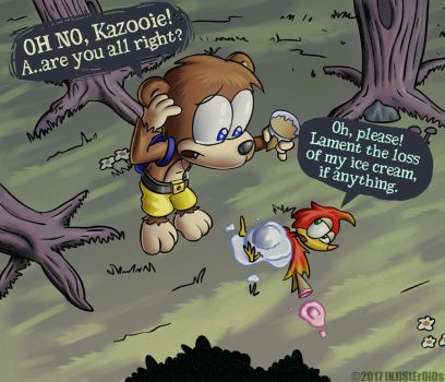 Crying over Spilt Kazooie by kjsteroids