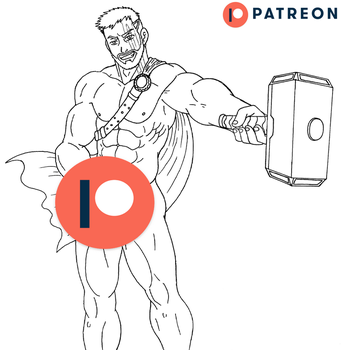 The Thor Hammer - Lineart - PATREON by 09tuf