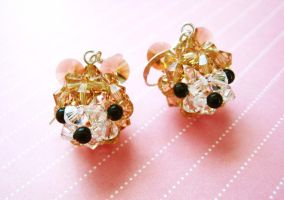 Teddy Bear Earrings by SparkleMeHappy