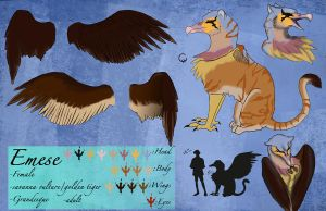 Emese Character Sheet by adubioussoul