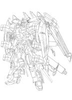 Gundam SEED A-STAR - TSX-01-X1 TRIAS/HWS by csy5150
