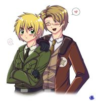Hetalia: US x UK by Hero-of-Awesome