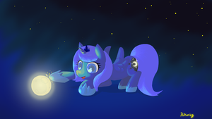 Meet the moon by Popoming