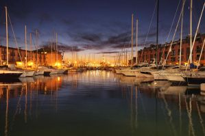 Sunset over the harbour 2 by rtraverso86