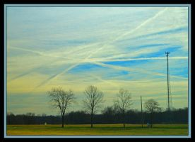 Crossing vapor trails.800 1281, with story by harrietsfriend