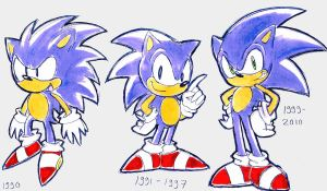 Sonic evolution by shiroiwolf