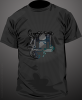 H shirt black and white by hugorr