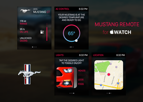 Mustang Remote for Apple WATCH by aglenn14