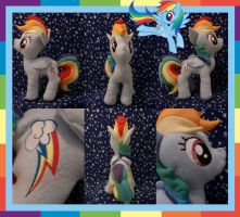 Rainbow Dash Plushie by Meowplease
