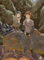 Brother and Sister by Tifaerith