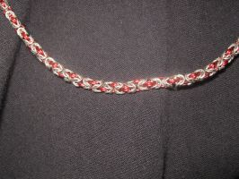 Closeup of Byzantine necklace by Flukarion