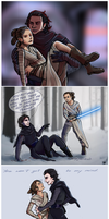 SW - Kylo and Rey by Fonora