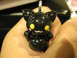 Black Kitty Charm by Michi01