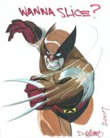 SDCC commission Sketch Wolvie by BroHawk