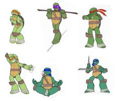 Turtle Poses Copy by enolianslave