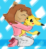 AGENCY: DW and Pikachu Doodle by JediAnnSolo