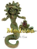 Medusa - Crochet Amigurumi Doll by MissyBaque
