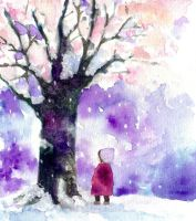 The cherry tree which blooms in winter by zara-midori