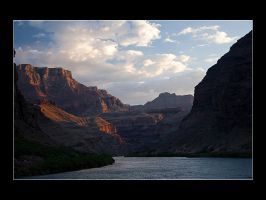 Canyon View At Sunset by acojon