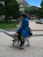 CIEL IS ON HIS DINOSUAR :D by Fainting-Ostrich