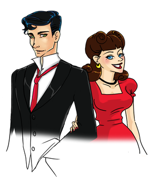 1950s Couple by OddKitty