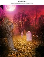Woods cemetery premade BG by StarsColdNight