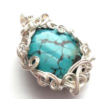 Custom Turquoise Pendant by sojourncuriosities