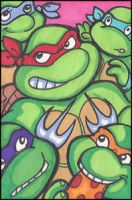 ATC Ninja Turtles by MaryBellamy